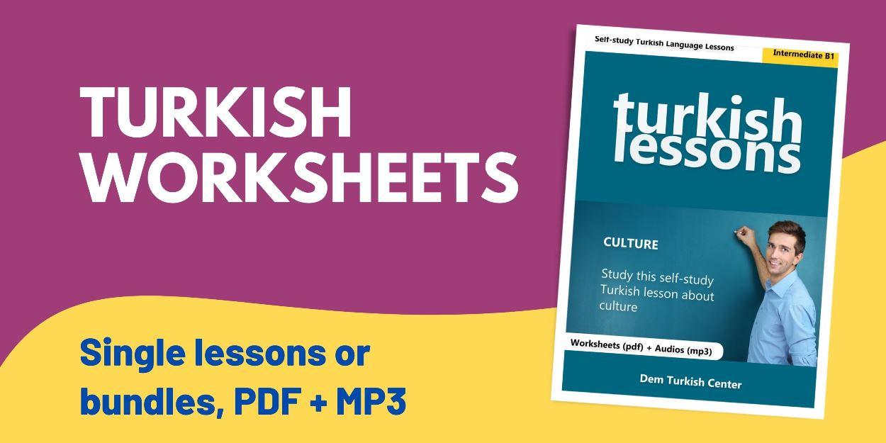 Turkish Language Lessons Worksheets